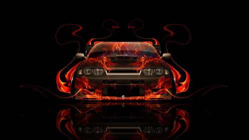 Nissan-Skyline-GTR-R33-JDM-Front-Fire-Abstract-Car-2014-Art-HD-Wallpapers-design-by-Tony-Kokhan-[www.el-tony.com]