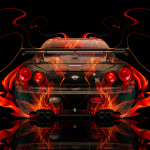 Nissan Skyline GTR R34 JDM Fire Abstract Car 2014