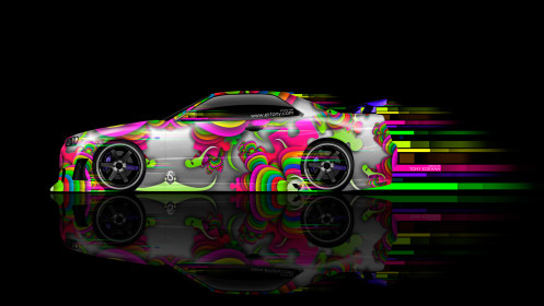 Nissan-Skyline-GTR-R34-JDM-Side-Super-Abstract-Aerography-Car-2014-Multicolors-HD-Wallpapers-design-by-Tony-Kokhan-[www.el-tony.com]