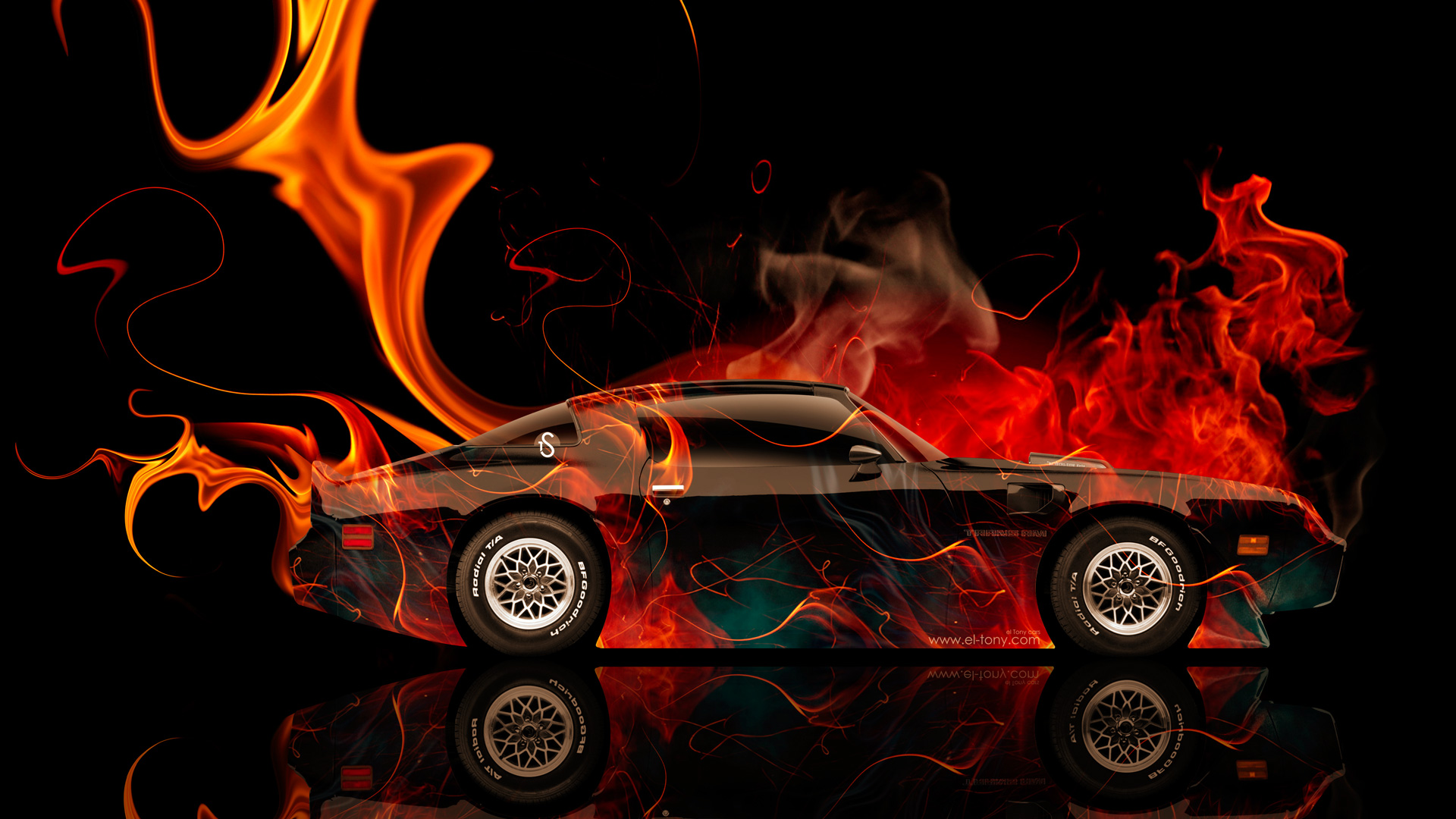 Bmw m6 hamann tuning side green fire abstract car 2015 hd wallpapers - Side Fire Car 2014 Chevrolet Camaro Muscle Side Fire Abstract Car