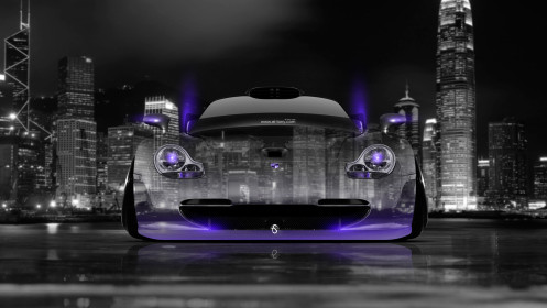 Porsche-911-GT1-Front-Crystal-City-Car-2014-Violet-Neon-HD-Wallpapers-design-by-Tony-Kokhan-[www.el-tony.com]