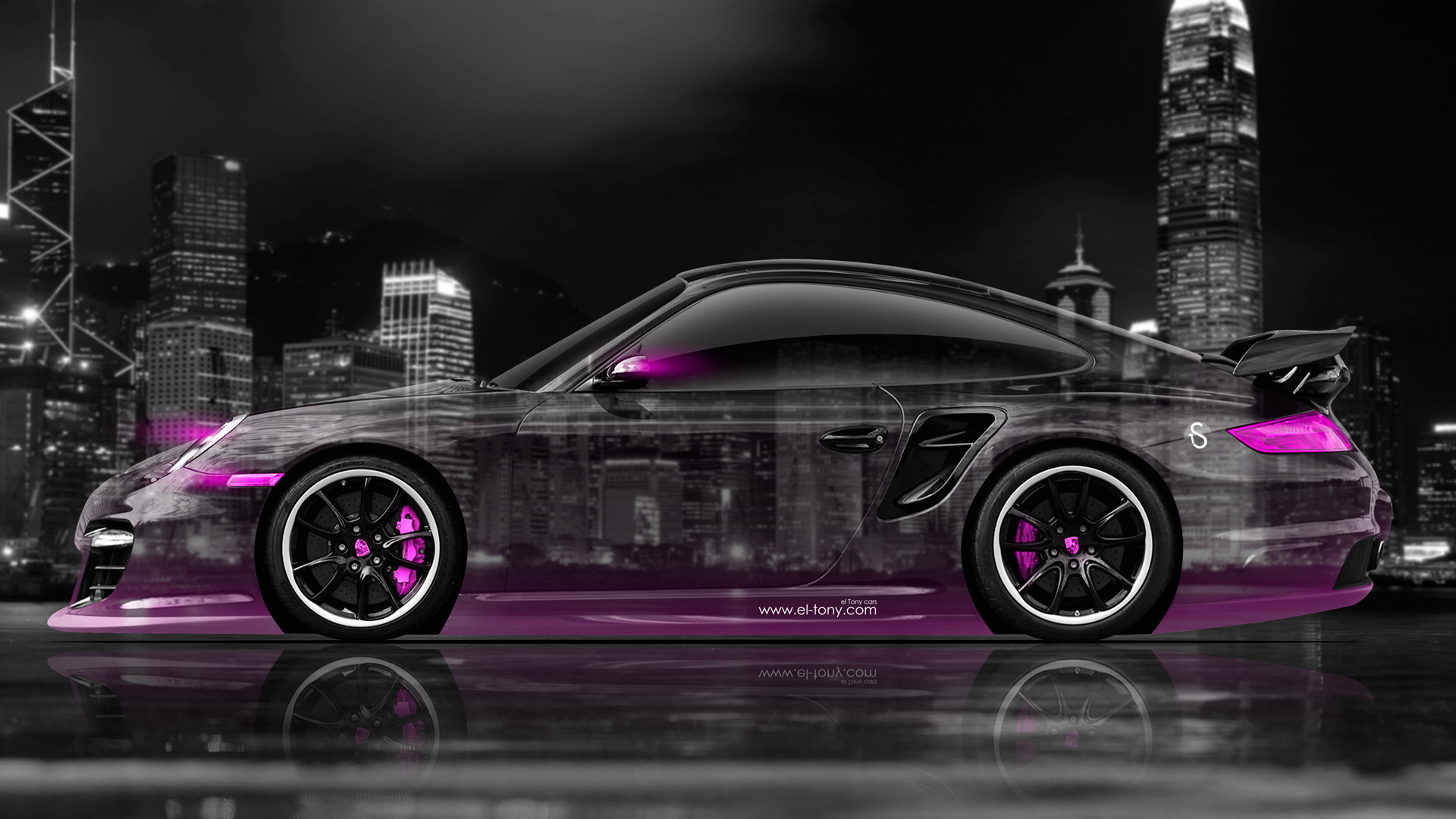 Wallpapers Porsche 911 Gt2 Side Crystal City Car 2014
