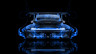 Porsche-911-Tuning-Back-Blue-Fire-Abstract-Car-2014-HD-Wallpapers-design-by-Tony-Kokhan-[www.el-tony.com]