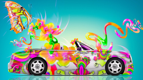 Rolls-Royce-Phantom-Coupe-Butterfly-Flowers-Car-2014-Multicolors-HD-Wallpapers-design-by-Tony-Kokhan-[wwww.el-tony.com]