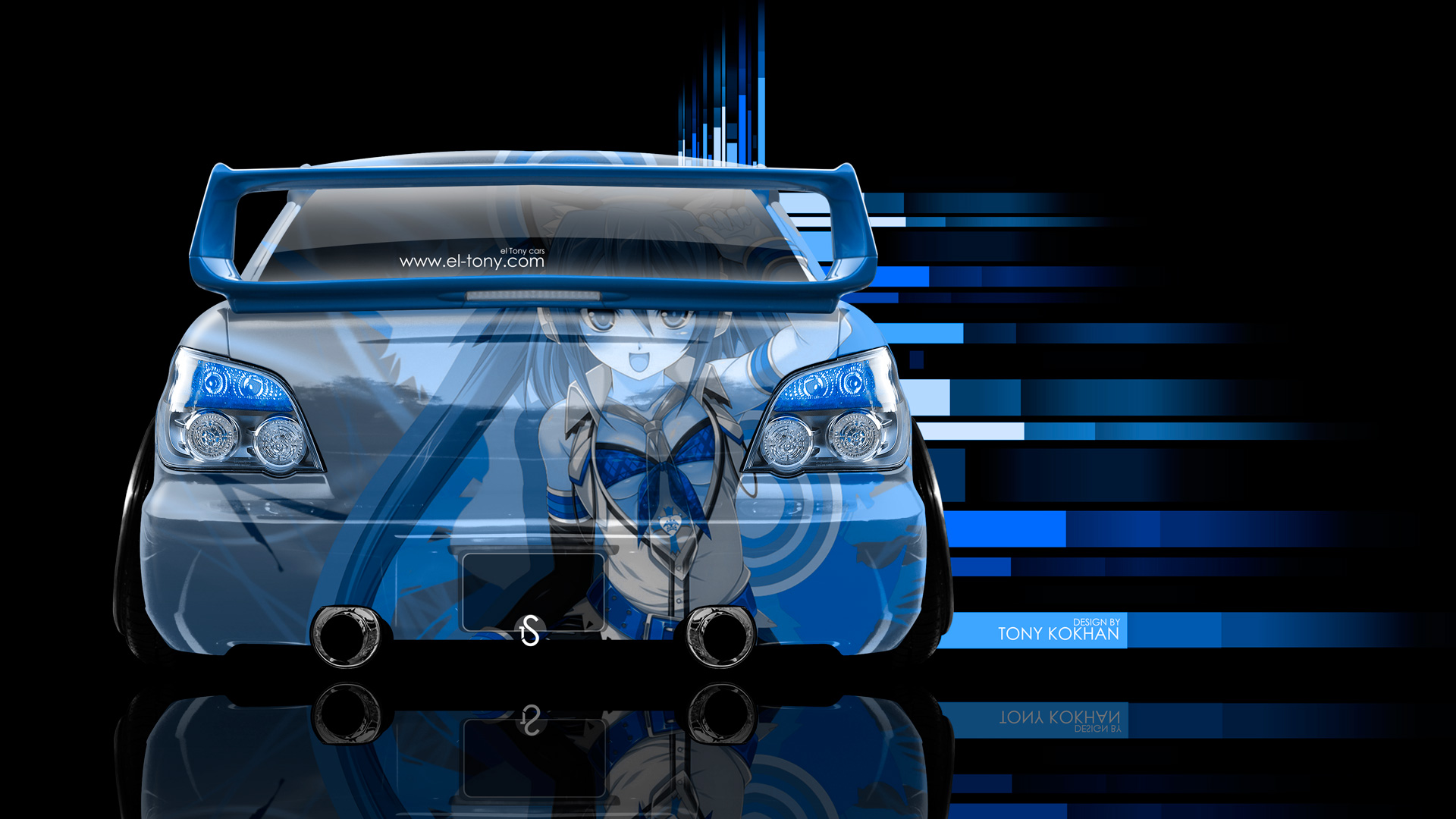 Wonderful ... Subaru Impreza WRX STI JDM Back Anime Aerography  ... Home Design Ideas
