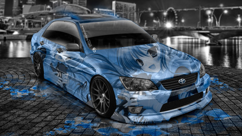 Toyota-Altezza-JDM-Anime-Aerography-City-Car-2014-Blue-Colors-HD-Wallpapers-design-by-Tony-Kokhan-[www.el-tony.com]