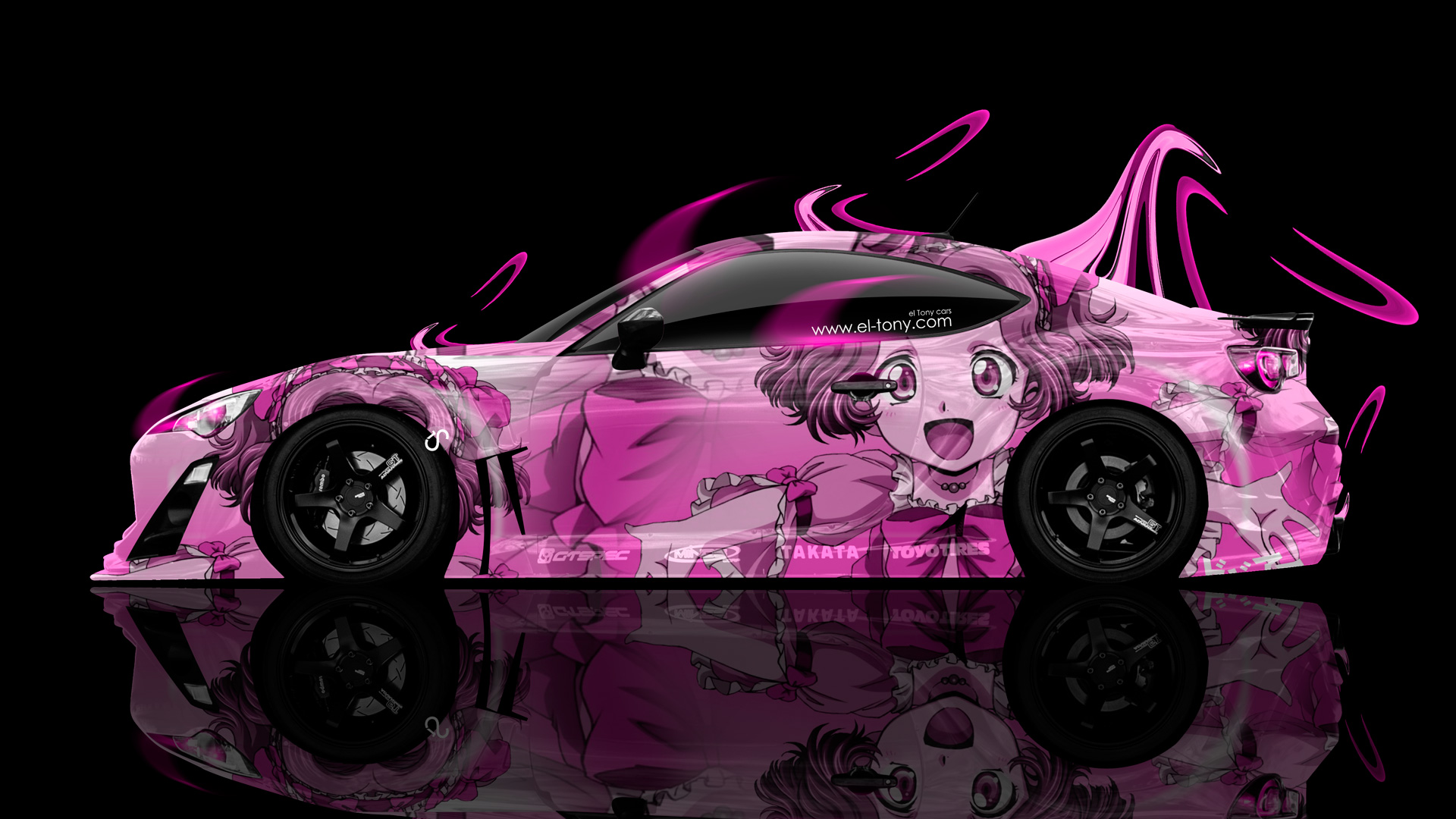 Exceptional Toyota GT86 Tuning Side Anime Aerography Plastic Car