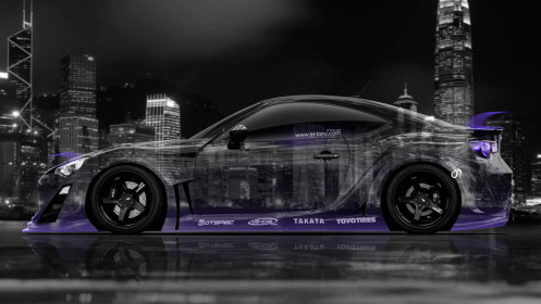Toyota-GT86-Tuning-Side-Crystal-City-Car-2014-Violet-Neon-HD-Wallpapers-design-by-Tony-Kokhan-[www.el-tony.com]