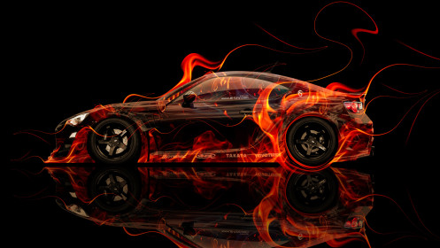 Toyota-GT86-Tuning-Side-Fire-Abstract-Car-2014-HD-Wallpapers-design-by-Tony-Kokhan-[www.el-tony.com]