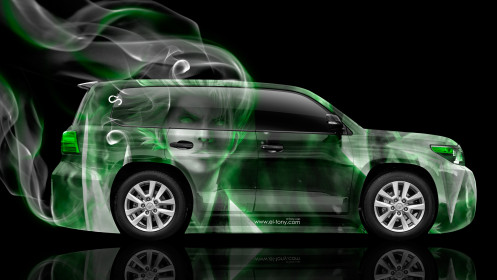 Toyota-Land-Cruiser-200-Side-Anime-Aerography-Smoke-Car-2014-Green-Neon-HD-Wallpapers-design-by-Tony-Kokhan-[www.el-tony.com]