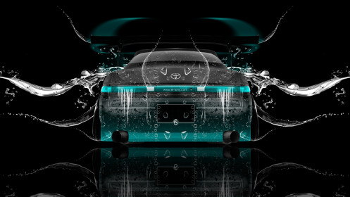 Toyota-Mark2-JZX90-JDM-Back-Water-Car-2014-Azure-Neon-HD-Wallpapers-design-by-Tony-Kokhan-[www.el-tony.com]