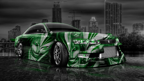 Toyota-Mark2-JZX90-JDM-Bleach-Anime-Aerography-Car-2014-Green-Colors-HD-Wallpapers-design-by-Tony-Kokhan-[www.el-tony.com]