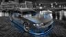 Toyota-Mark2-JZX90-JDM-Side-Up-Crystal-City-Car-2014-Blue-Neon-HD-Wallpapers-design-by-Tony-Kokhan-[www.el-tony.com]