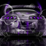 Toyota Supra JDM Back Anime Girl Aerography Car 2014