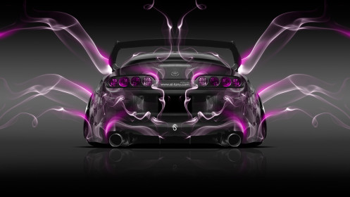 Toyota-Supra-JDM-Back-Pink-Smoke-Car-2014-HD-Wallpapers-design-by-Tony-Kokhan-[www.el-tony.com]
