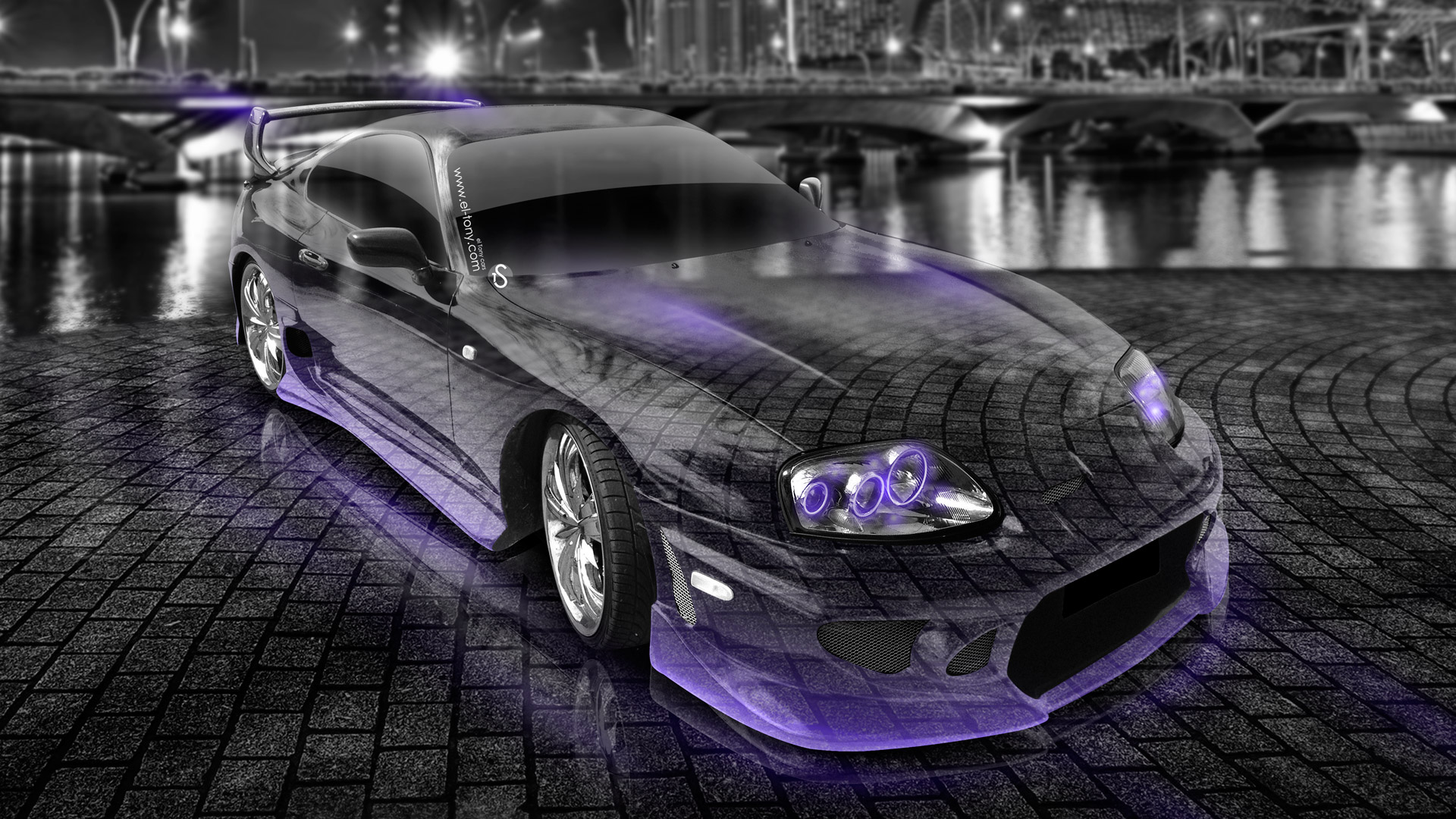 Toyota-Supra-JDM-Crystal-City-Car-2014-Side-Up-View-Violet-Neon-HD-Wallpapers-design-by-Tony-Kokhan-[www.el-tony.com]