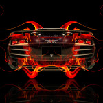Audi R8 BackUp Fire Abstract Car 2014