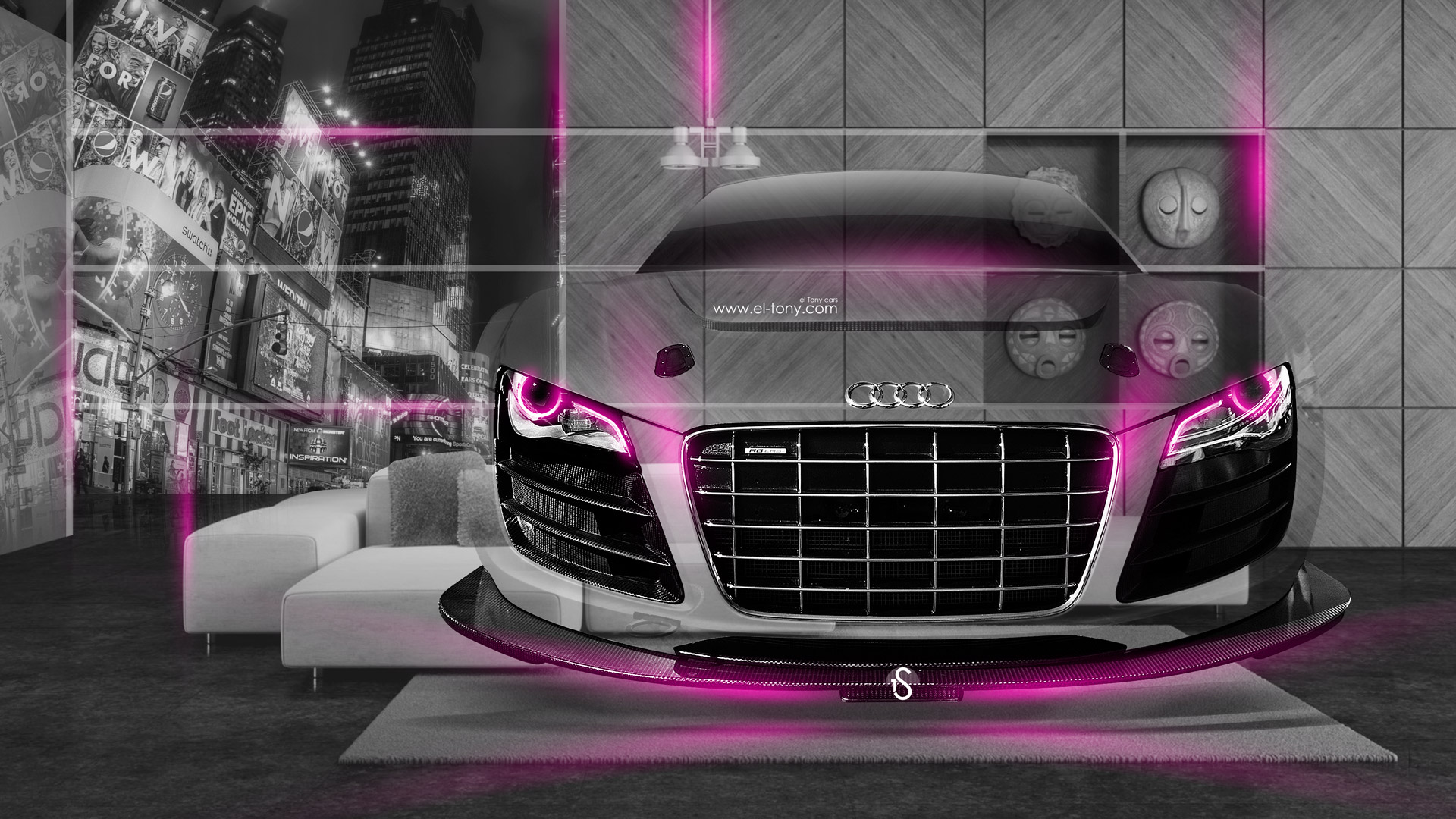 Infiniti FX Side Fantasy Flowers Car 2014 · Audi R8 Fantasy Crystal Home  Fly Car 2014