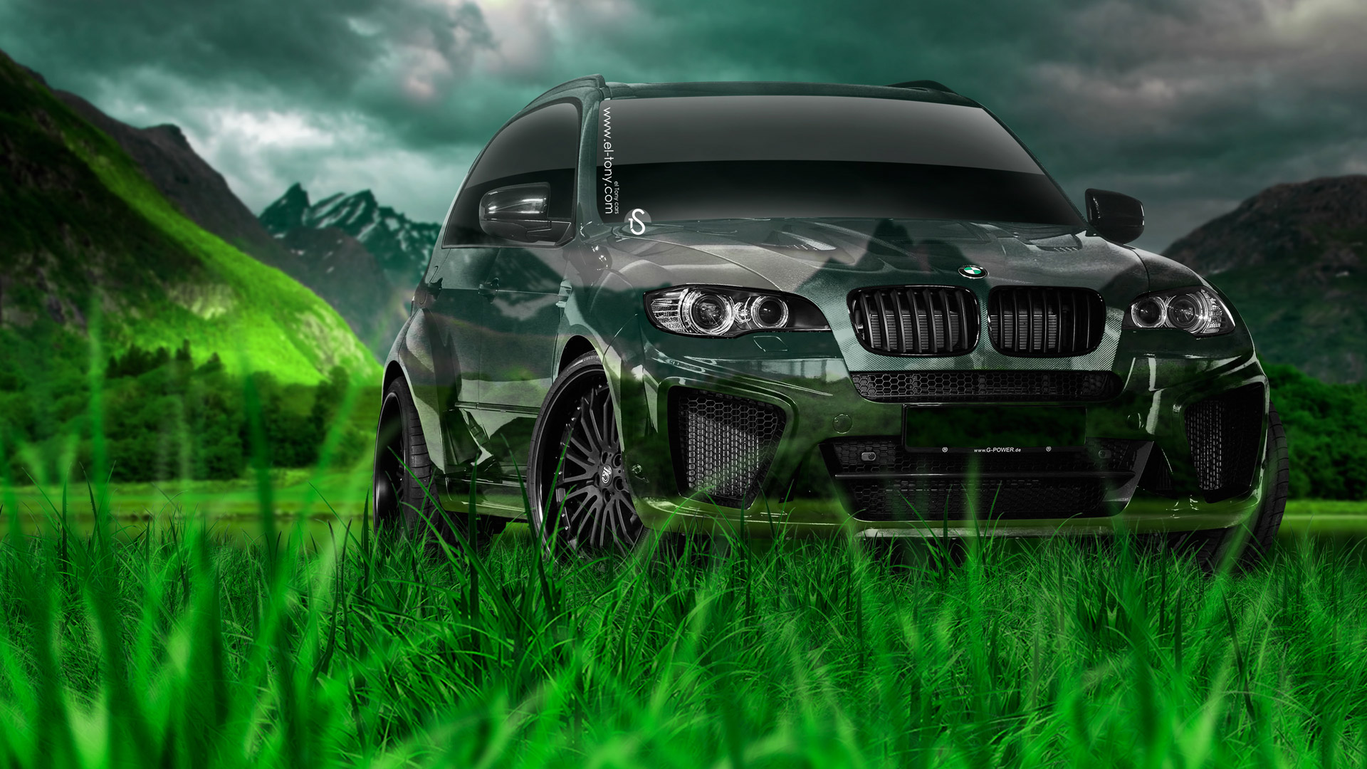 BMW-X5-Tuning-Crystal-Nature-Car-2014-Photoshop-HD-Wallpapers-design-by-Tony-Kokhan-[www.el-tony.com]