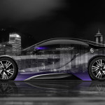 BMW i8 Side Crystal City Car 2014
