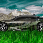 BMW i8 Side Crystal Nature Car 2014
