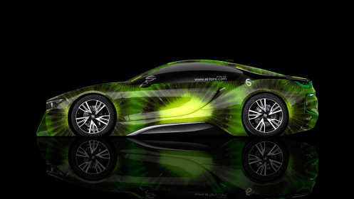 BMW-i8-Side-Kiwi-Aerography-Car-2014-Photoshop-HD-Wallpapers-design-by-Tony-Kokhan-[www.el-tony.com]