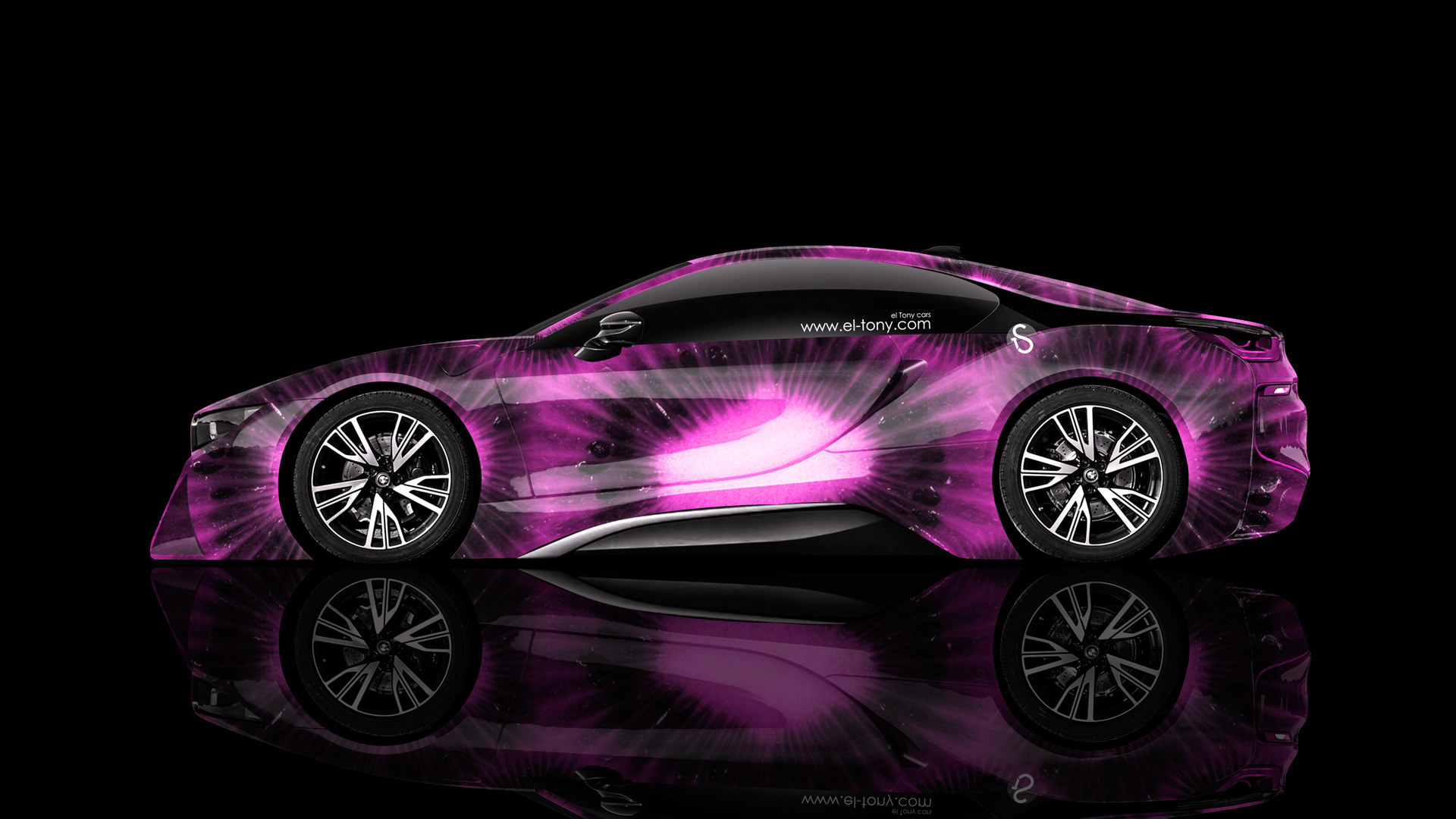 Bmw I8 Side Kiwi Aerography Car 2014 El Tony