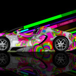 Bugatti Veyron Roadster Side Abstract Aerography Car 2014