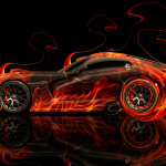 Dodge Viper SRT Side Super Fire Abstract Car 2014
