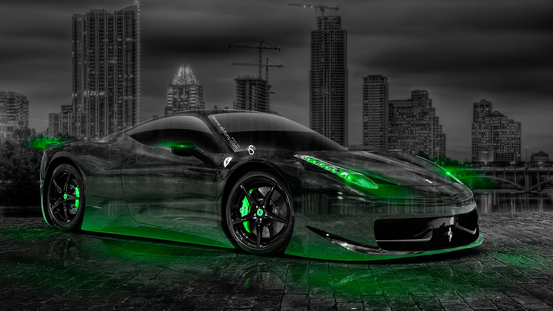 wallpaper green ferrari cars - photo #37