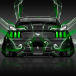 Ford Mustang Muscle Back Smoke Car 2014