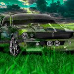 Ford Mustang Shelby GT500 Muscle Crystal Nature Car 2014