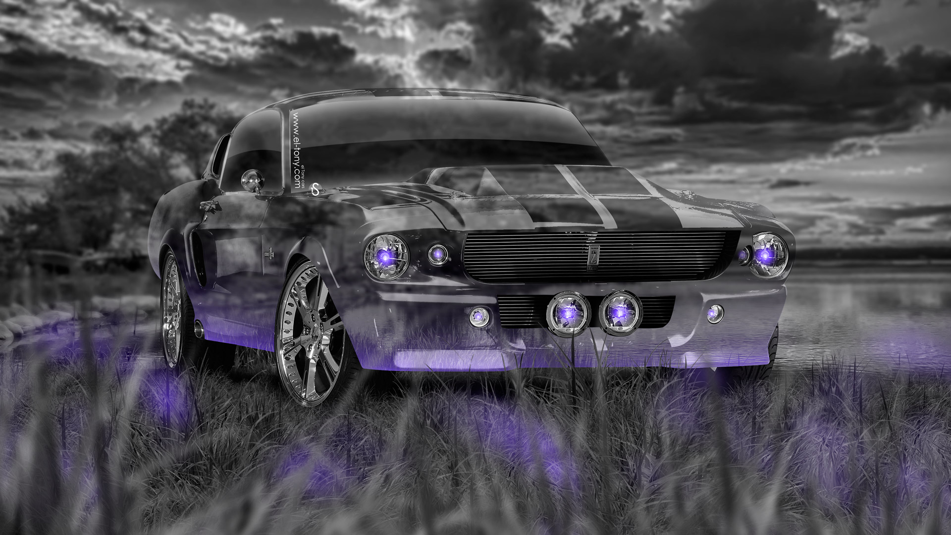 Nice Genial Ford Mustang Shelby GT500 Muscle Crystal Nature Car .