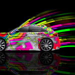 Infiniti FX Side Abstract Aerography Car 2014