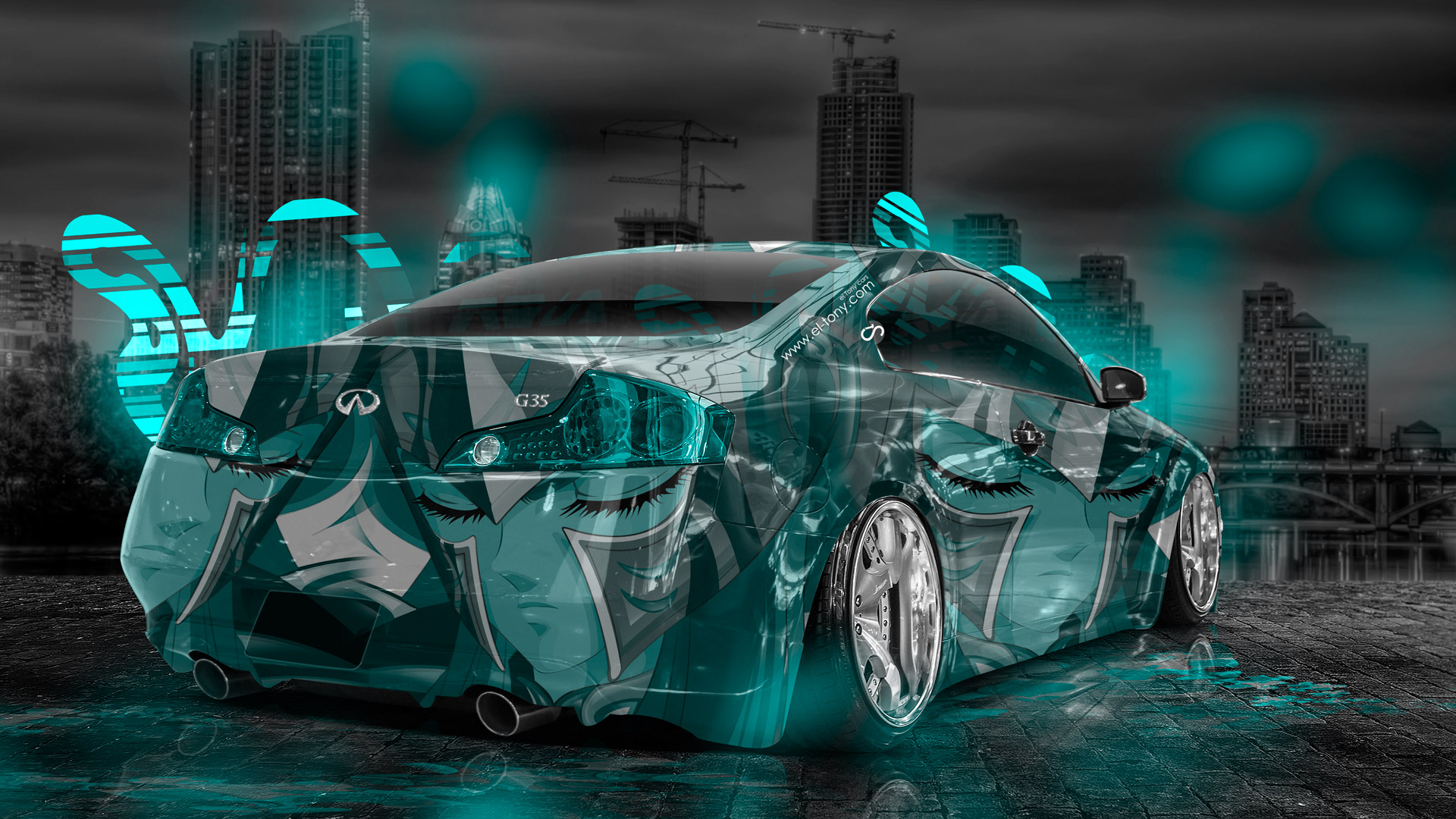 Infiniti-G35-Anime-Aerography-City-Car-2014-Azure-Neon-HD-Wallpapers-design-by-Tony-Kokhan-[www.el-tony.com]