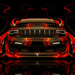 Jeep Grand Cherokee SRT8 Front Fire Abstract Car 2014
