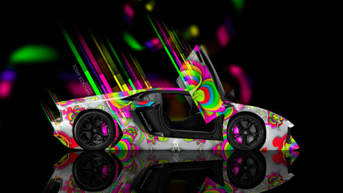 Lamborghini-Aventador-Open-Doors-Side-Abstract-Aerography-Car-2014-Photoshop-Multicolors-HD-Wallpapers-design-by-Tony-Kokhan-[www.el-tony.com]