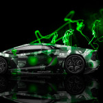 Lamborghini Aventador Side Abstract Aerography Car 2014