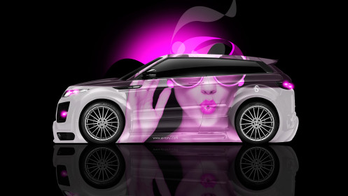 Land-Rover-Evoque-Side-Glamour-Girl-Aerography-Car-2014-Pink-Colors-HD-Wallpapers-design-by-Tony-Kokhan-[www.el-tony.com]