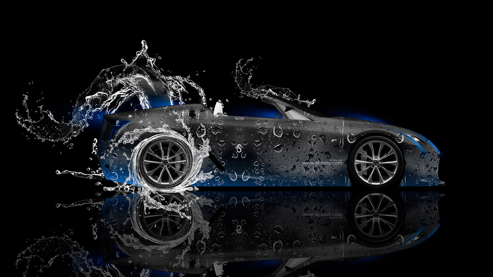 Nice ... Lexus LFA Roadster Side Water Car 2014