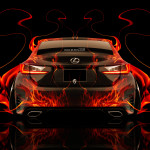 Lexus RC350 Back Fire Abstract Car 2014