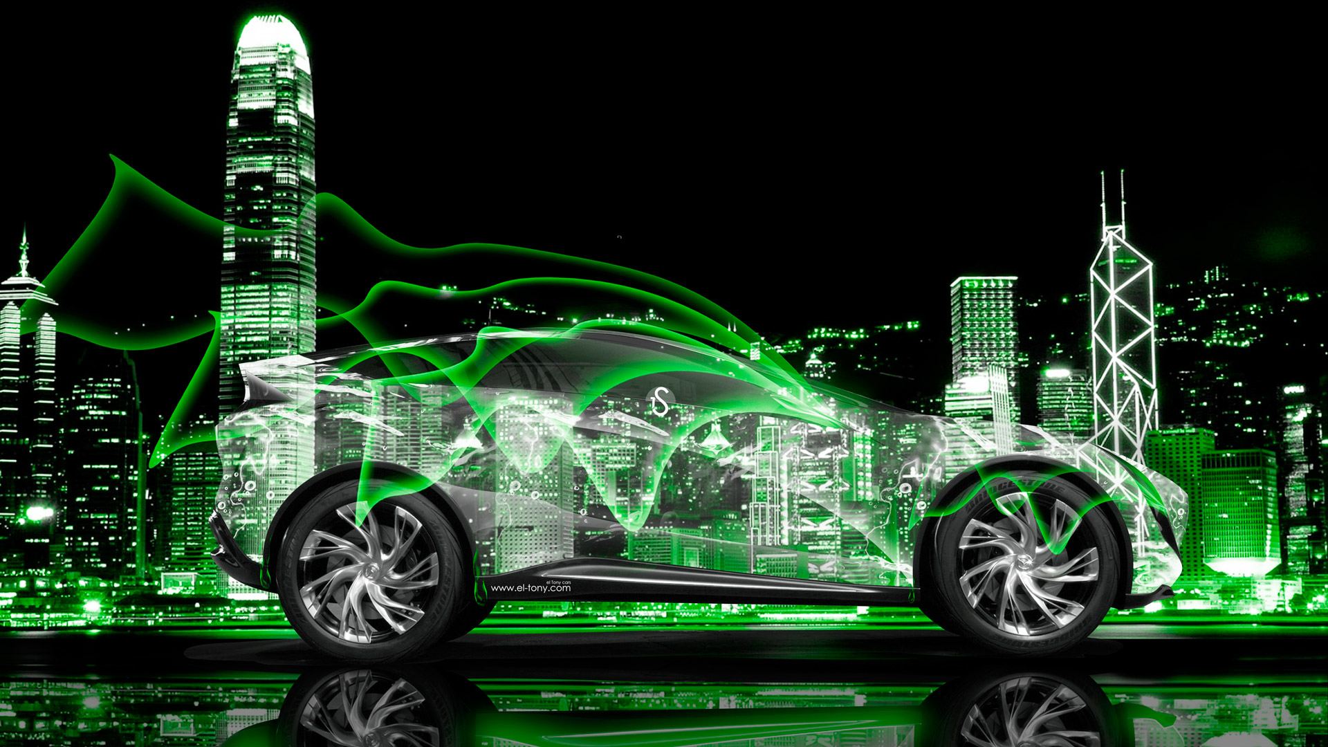 Mazda Kazamai Crystal City Abstract Car 2014 Green  Amazing Ideas