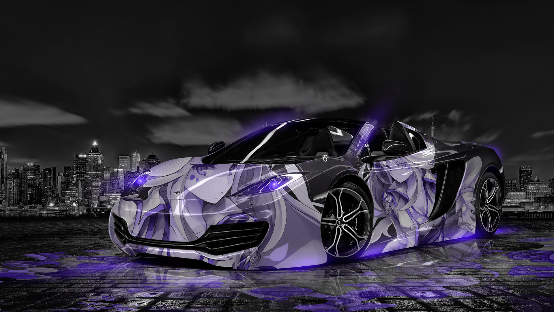 Mclaren Mp4 12c Anime Aerography City Car 2014 El Tony