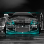 Mitsubishi Lancer Evolution JDM Front Crystal City Car 2014