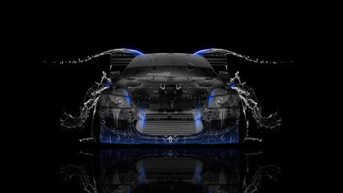 Mitsubishi-Lancer-Evolution-JDM-Front-Water-Car-2014-Blue-Neon-HD-Wallpapers-design-by-Tony-Kokhan-[www.el-tony.com]