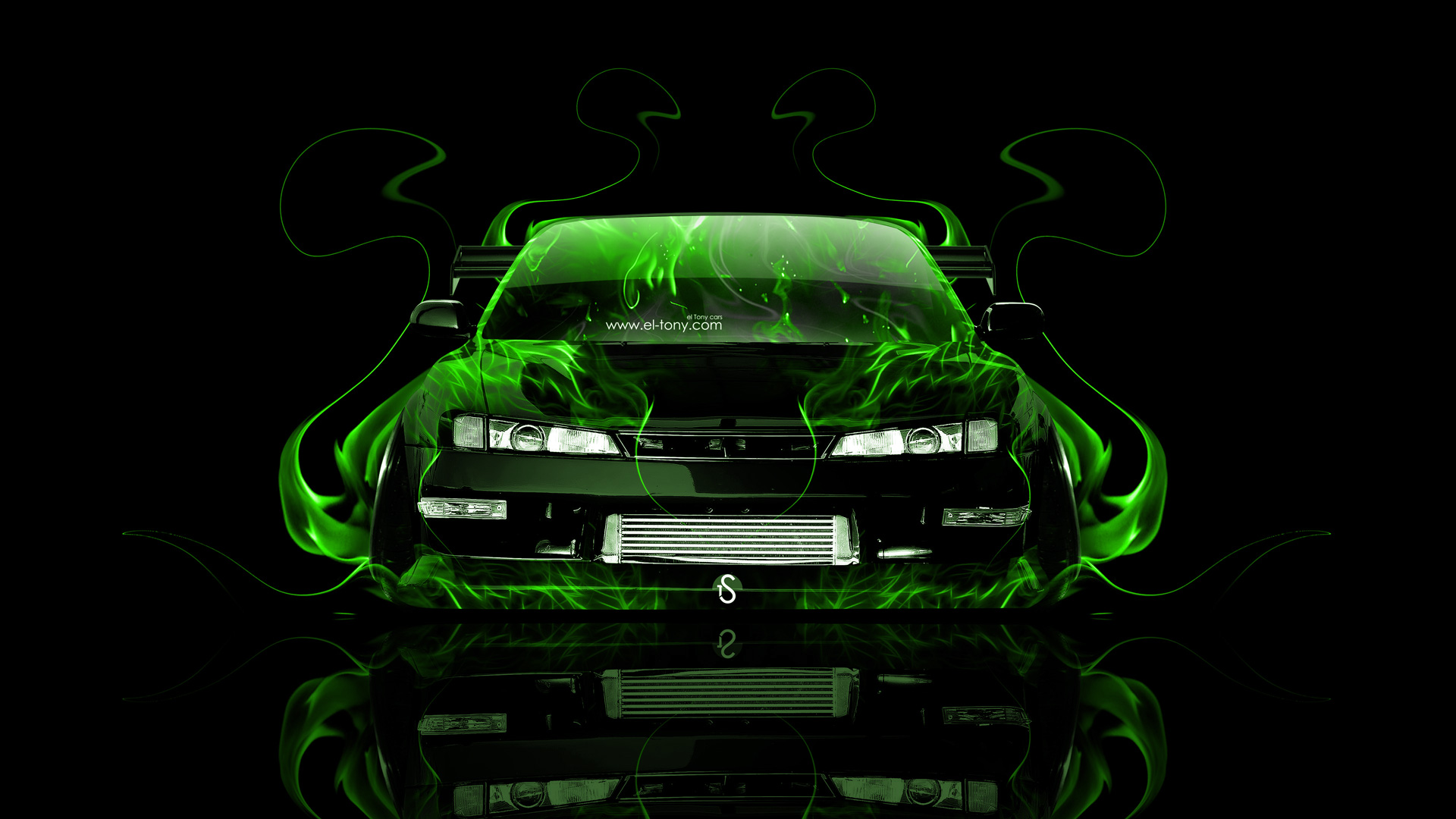 Nissan Silvia S14 JDM Front Fire Abstract Car 2014 | el Tony