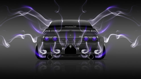 Nissan-Skyline-GTR-R32-JDM-Back-Smoke-Car-2014-Violet-Neon-HD-Wallpapers-design-by-Tony-Kokhan-[www.el-tony.com]
