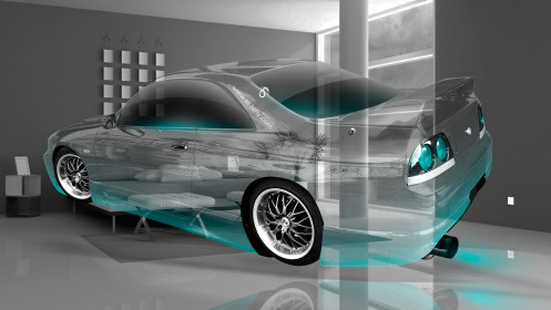 Nissan-Skyline-GTR-R33-JDM-Crystal-Home-Fly-Car-2014-Azure-Neon-HD-Wallpapers-design-by-Tony-Kokhan-[www.el-tony.com]