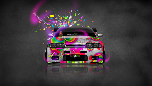 Nissan-Skyline-GTR-R33-JDM-Style-Domo-Kun-Toy-Car-2014-Multicolors-HD-Wallpapers-design-by-Tony-Kokhan-[www.el-tony.com]
