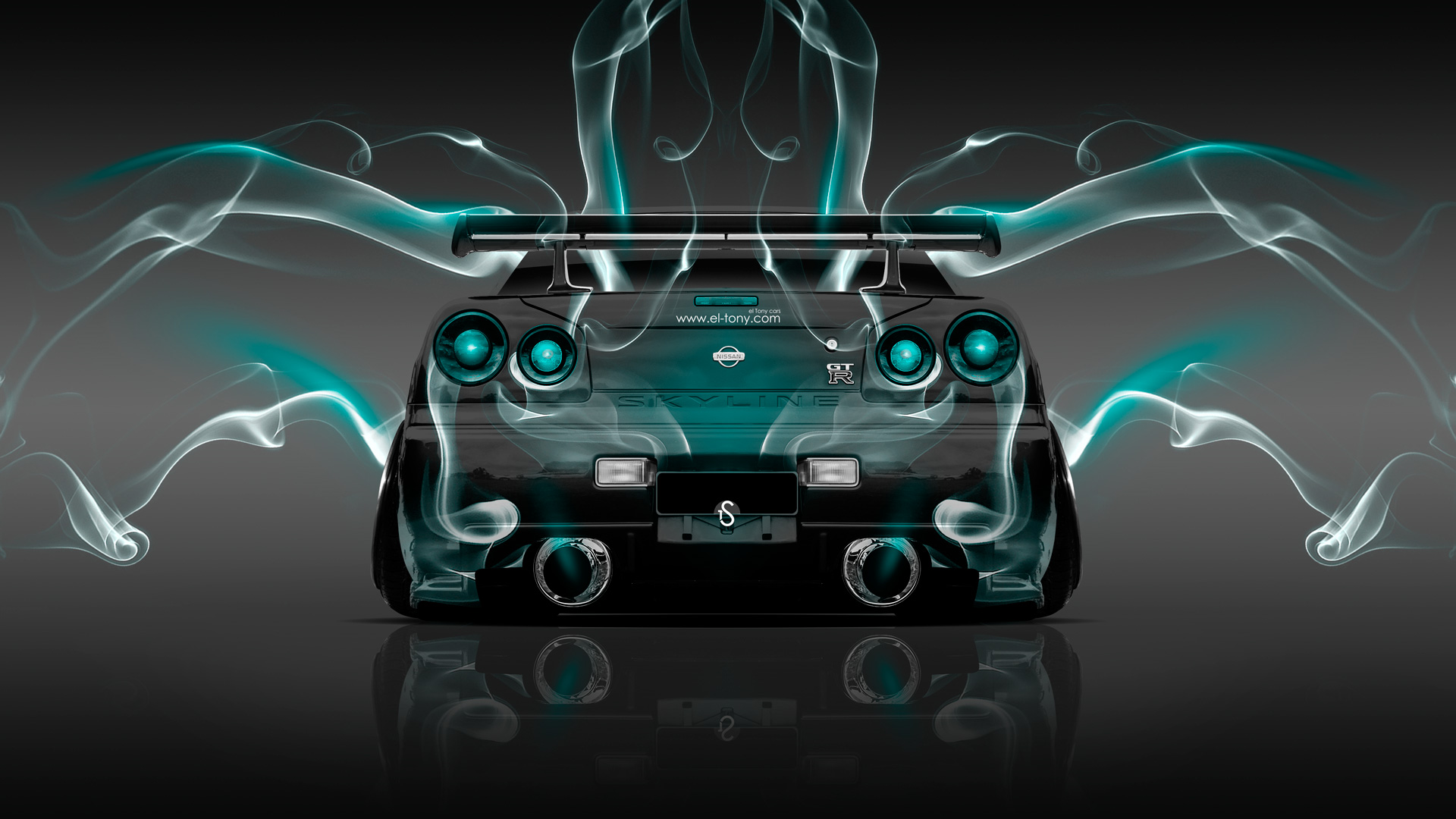 4K Nissan Skyline GTR R34 JDM Back Abstract Car 2014 ...